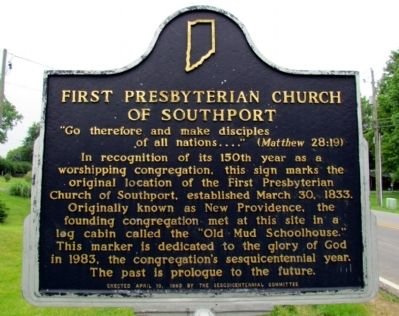 First Presbyterian Church of Southport Marker image. Click for full size.
