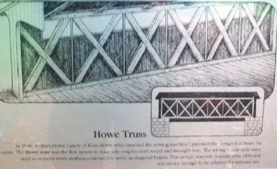 [Covered Bridge] Truss Structures and Truss Variations Marker - Howe Truss image. Click for full size.