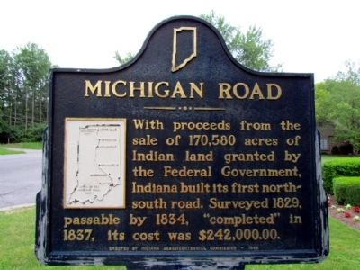 Michigan Road Marker image. Click for full size.