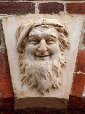 Head of Silenus<br>Above the door arch at the Rossborough Inn image. Click for full size.