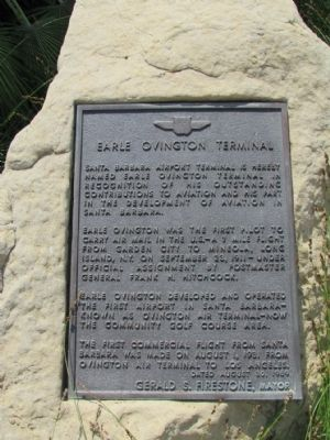 Earle Ovington Terminal Marker image. Click for full size.