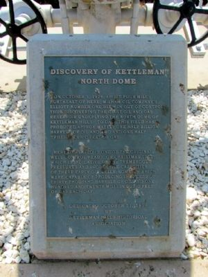 Discovery of Kettleman North Dome Marker image. Click for full size.