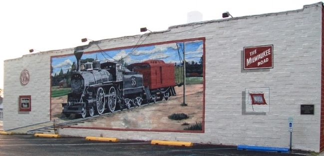 Railroad Boom Mural and Marker image. Click for full size.