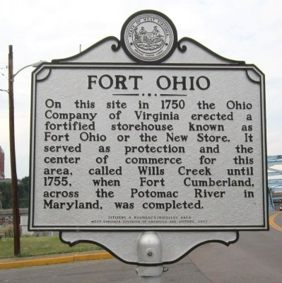 Fort Ohio Marker image. Click for full size.