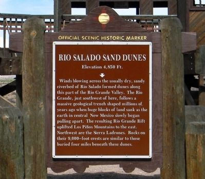 Rio Salado Sand Dunes Marker image. Click for full size.