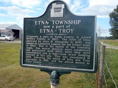 Etna Township now a part of Etna - Troy Marker image. Click for full size.