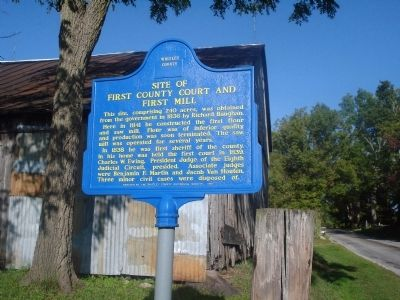 Site of First County Court and First Mill Marker image. Click for full size.