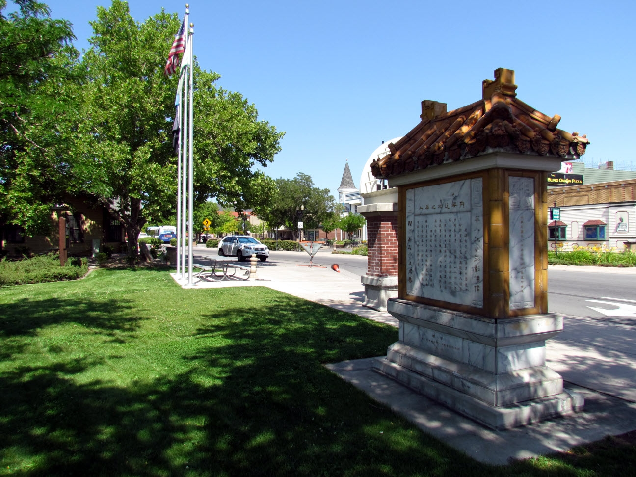 Rear View of Chinese in Nevada Marker