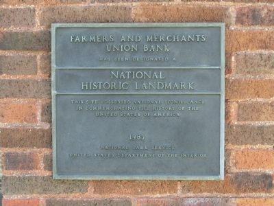 Farmers and Merchants Union Bank National Historic Landmark image. Click for full size.