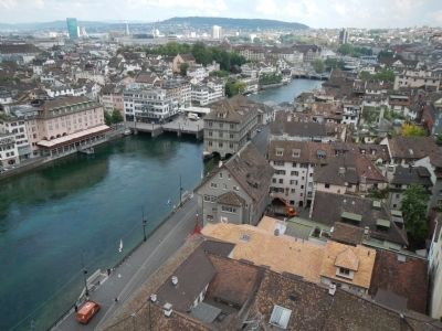 View of Zurich from the Grössmunster Bell Tower image. Click for full size.