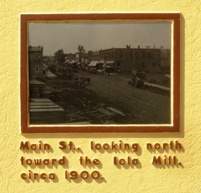 Iola's Early History Marker image. Click for full size.