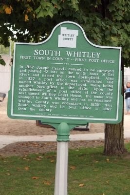 South Whitley Marker image. Click for full size.