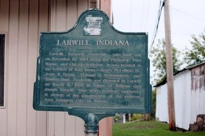 Larwill Indiana Marker prior to its Repainting image. Click for full size.