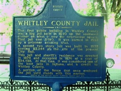 Whitley County Jail Marker image. Click for full size.