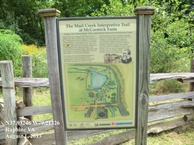 The Marl Creek Interpretive Trail Marker image. Click for full size.
