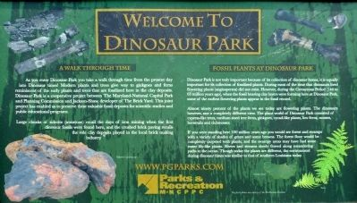 Welcome to Dinosaur Park Marker image. Click for full size.