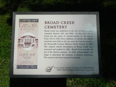 Broad Creek Cemetery Marker image. Click for full size.