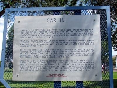 Carlin Marker image. Click for full size.