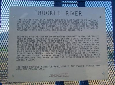 Truckee River Marker image. Click for full size.