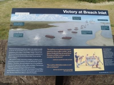 Victory at Breach Inlet Marker image. Click for full size.