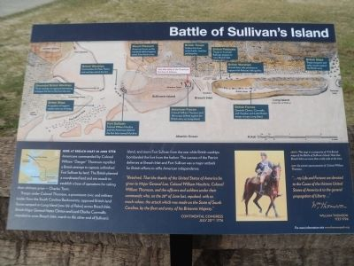 Battle of Sullivan's Island Marker image. Click for full size.