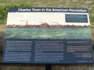 Charles Town in the American Revolution Marker image. Click for full size.