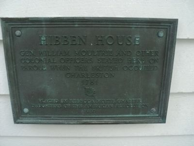 Hibben House Marker image. Click for full size.