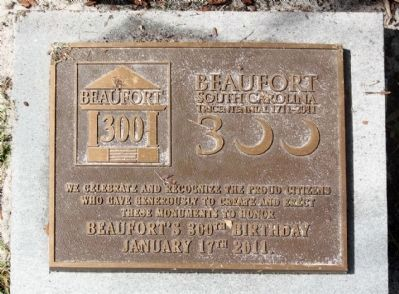 Beaufort South Carolina Tricentennial image. Click for full size.