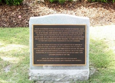 Beaufort South Carolina Tricentennial Plaque 2 image. Click for full size.