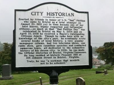 City Historian Marker image. Click for full size.