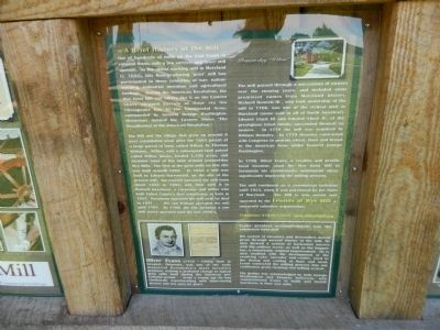 A Brief History of the Mill Marker image. Click for full size.