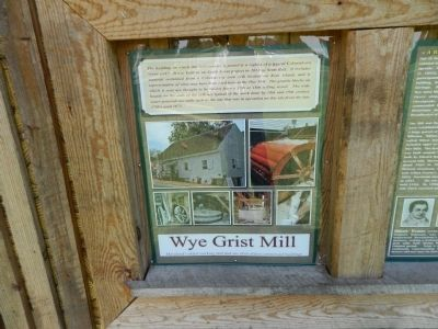 Wye Grist Mill Marker image. Click for full size.