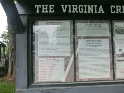 The Virginia Creeper Marker (left side) image. Click for full size.