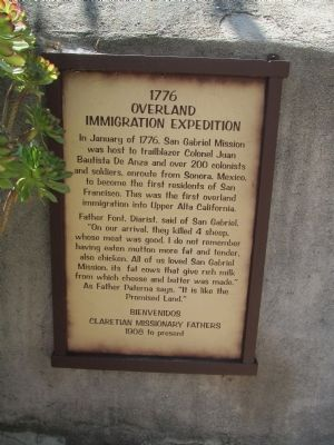 1776 Overland Immigration Expedition Marker image. Click for full size.