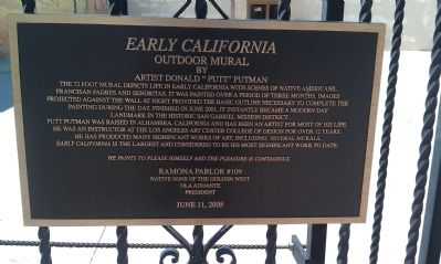 Early California Marker image. Click for full size.