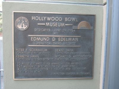 The Honorable Edmund D. Edelman Marker image. Click for full size.