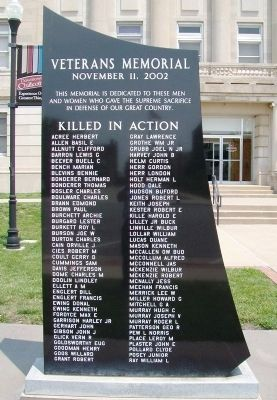 Veterans Memorial Honored Dead image. Click for full size.