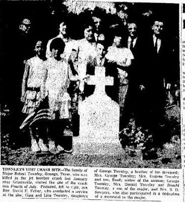 Newspaper clipping of the marker at the dedication ceremony image, Touch for more information