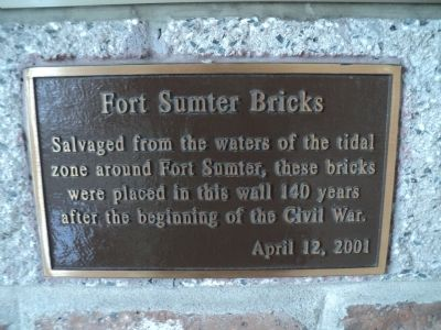Fort Sumter Bricks Marker image. Click for full size.