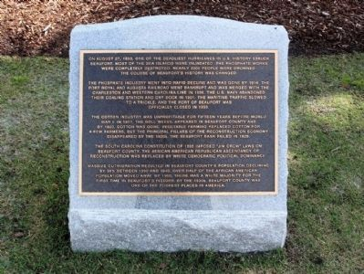 Beaufort South Carolina Tricentennial Plaque 7 image. Click for full size.