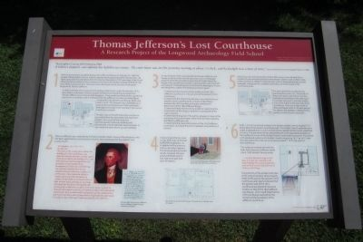 Thomas Jefferson's Lost Courthouse Marker (1 of 3) image. Click for full size.
