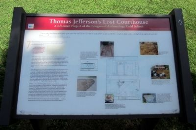 Thomas Jefferson's Lost Courthouse Marker (2 of 3) image. Click for full size.