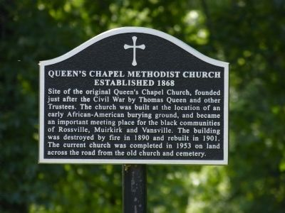 Queen's Chapel Methodist Church, Established 1868 Marker image. Click for full size.