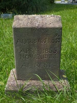 Augustus Ross. Sr. (1855-1933)<br> Grave Stone in Queen&#39;s Chapel Cemetery image. Click for full size.