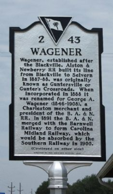 Wagener Marker image. Click for full size.
