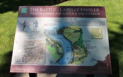 The Battle of La Belle Famille Marker image. Click for full size.
