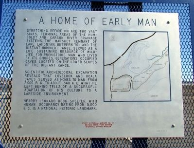 A Home of Early Man Marker image. Click for full size.