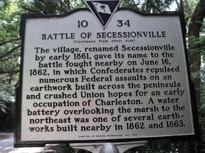 Riversville / Battle of Secessionville Marker image. Click for full size.