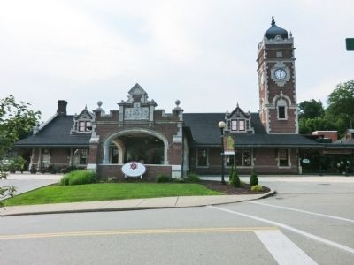 Train Station at Greensburg Marker image. Click for full size.