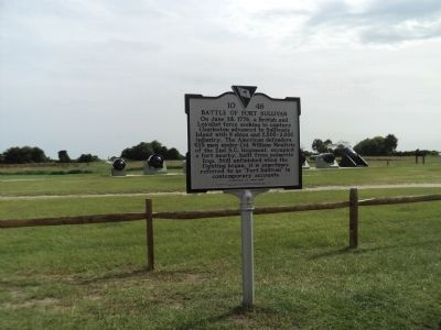 Battle of Fort Sullivan Marker image. Click for full size.